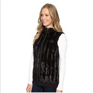 NorthFace Faux Fur Hooded Vest